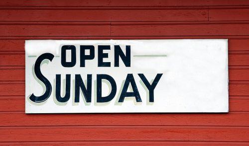 Artikelbild zu Artikel Geänderte Öffnungszeiten am Sonntag
